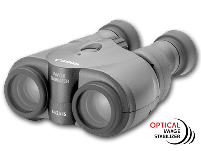 Image Stabilized 8x25 IS Porro Prism Binoculars