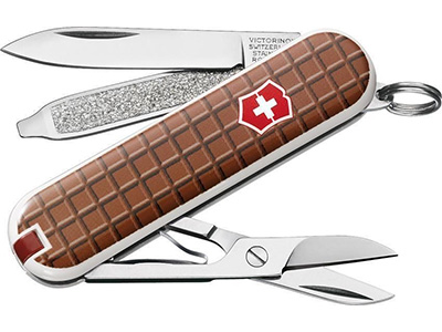 Classic SD Knife - Swiss Chocolate Design