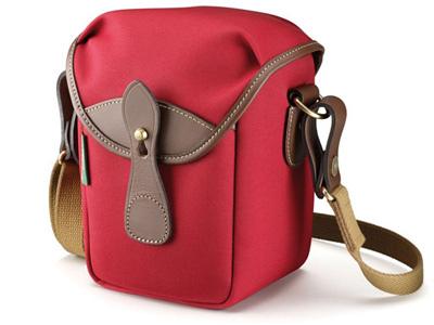 72 Burgundy Canvas and Chocolate Leather Trim Bag