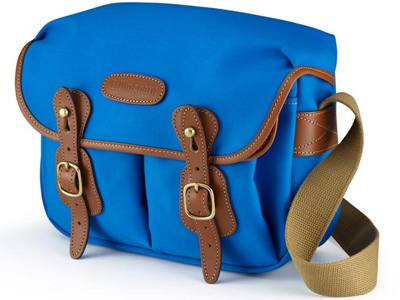 Hadley Small Imperial Blue Canvas/Tan Trim