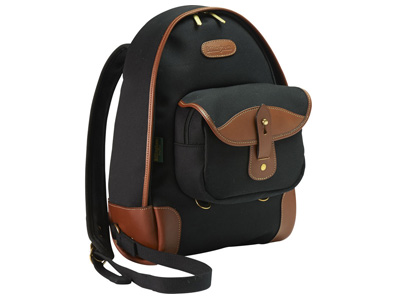 Rucksack 35 Black Canvas/Tan Leather