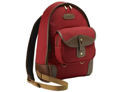 Rucksack 35 Burgundy Canvas/Chocolate Leather