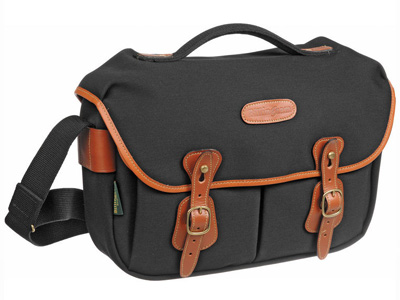 Hadley Pro Shoulder Canvas Black with Tan Trim