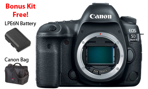 EOS 5D Mark IV body with free bag and battery