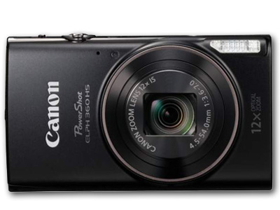 PowerShot ELPH 360 HS 20 MP 12X Zoom Black