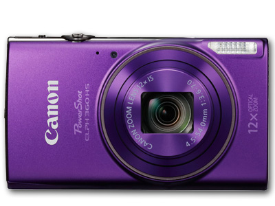 PowerShot ELPH 360 HS 20 MP 12X Zoom Purple