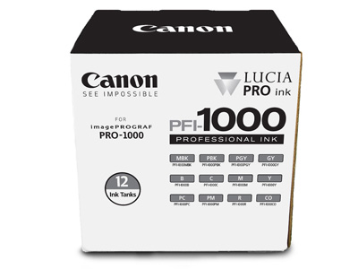 PFI-1000  Lucia Pro Set of 12 Ink Tanks 80ml