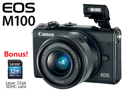 M100 with 15-45mm Lens and BONUS 32gb SD card