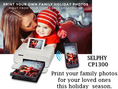 Camera Canada :: Canon :: SELPHY CP1300 Photo Printer White