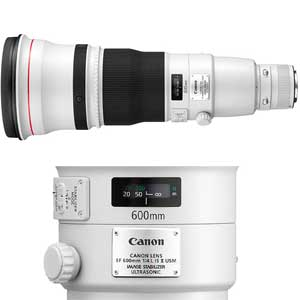 600mm f4.0L IS II USM EF Lens