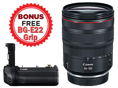 24-105mm RF f4L IS Lens with FREE BG-E22 Grip