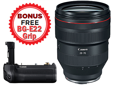 28-70mm RF f2L USM Lens with FREE BG-E22 Grip