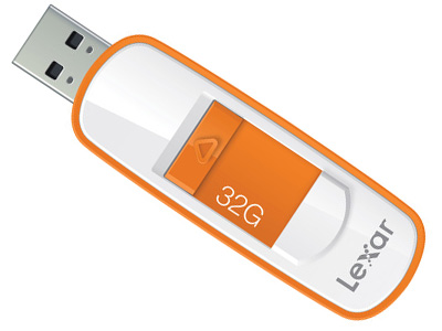 Lexar 32GB JumpDrive S75 USB 3.0 Orange