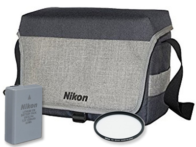 Nikon DX Accessory Bundle (Bag, Battery, Filter)