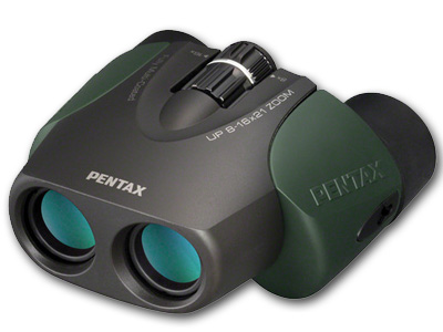8-16x21 UP Zoom GREEN Binoculars