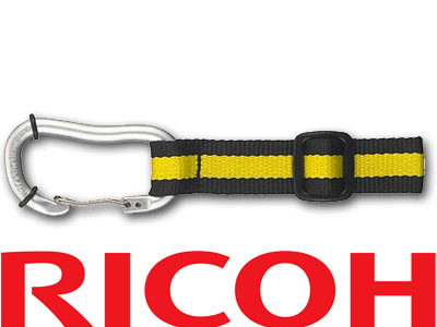Ricoh Carabiner Strap O ST145 Lime/Yellow Blue