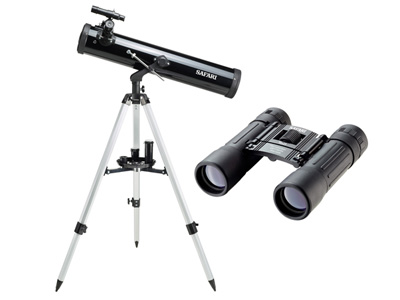 76x525mm Reflector Telescope with Binoculars
