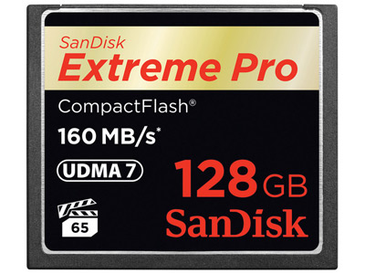 128 GB Extreme Pro Compact Flash Card
