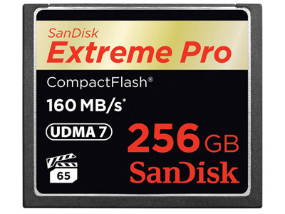 256 GB Extreme Pro Compact Flash Card