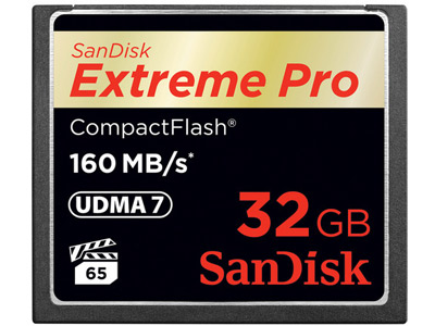 32 GB Extreme Pro Compact Flash Card