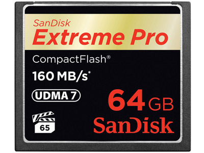 64 GB Extreme Pro Compact Flash Card