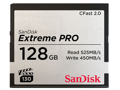 128GB Extreme PRO CFast 2.0 Memory Card