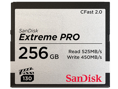 256GB Extreme PRO CFast 2.0 Memory Card