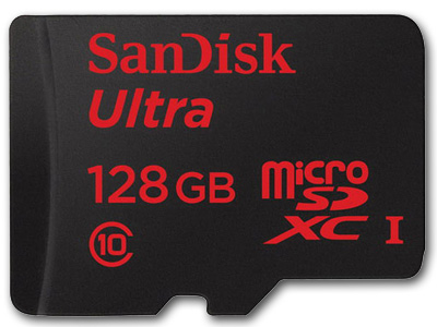 128 GB Ultra UHS-I microSDXC Memory Card w/Adapter