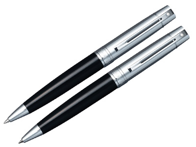Sheaffer 500 Blk/Char Pen Pencil Set