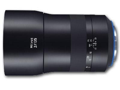 135mm f/2 ZE Zeiss Milvus Lens for Canon EF Mount