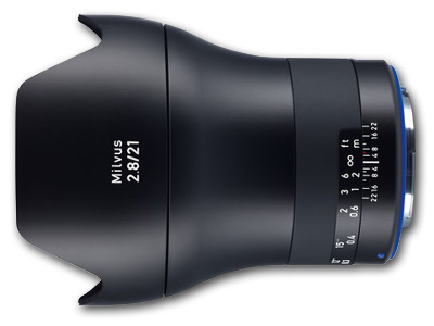 21mm f/2.8 ZE Zeiss Milvus Lens for Canon EF Mount
