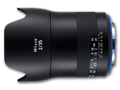 35mm f/2.0 ZE Zeiss Milvus Lens for Canon EF Mount