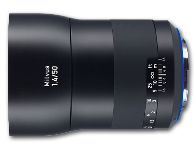 50mm f/1.4 ZE Zeiss Milvus Lens for Canon EF Mount