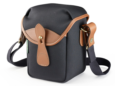 72 Black Canvas and Tan Leather Trim Bag