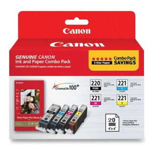 Ink Cartridge PGI 220/CLI221 Colour 4Pack
