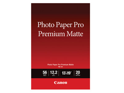 "Canon 13x19"" Matte Finish 20 Sheets PM-101"