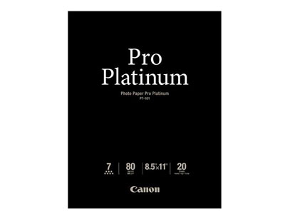 Canon 8.5x11 Pro Platinum High Gloss 20 Sheets