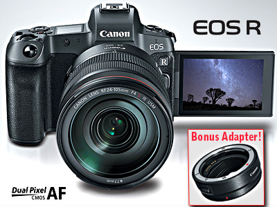 EOS R Kit with RF 24-105mm f4L IS USM Lens BONUS