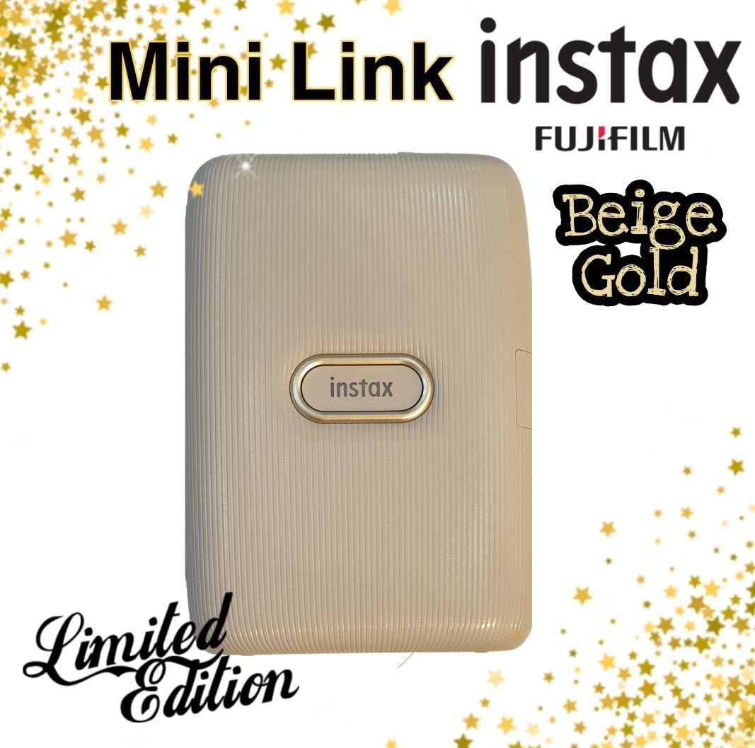 Instax Mini Link Smartphone Printer Biege Gold