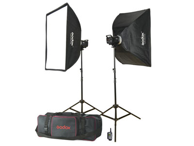 Godox MS Series 300W X2 Studio Light Kit