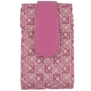 Case Leather for Coolpix S-Series Pink