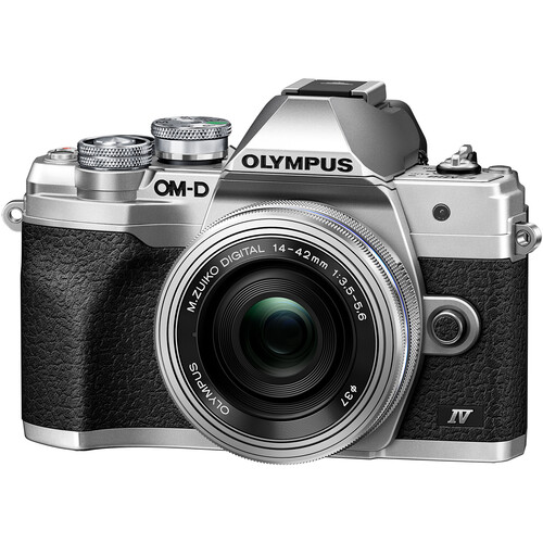 OM-D E-M10 Mark IV with 14-42mm EZ Lens Silver