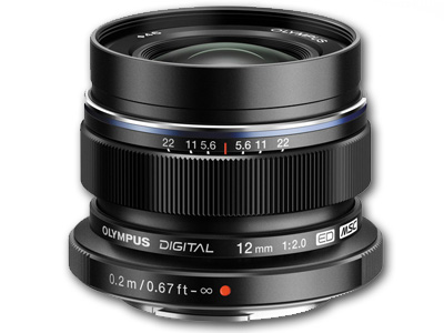 12mm f2.0 M. Zuiko ED Lens Black