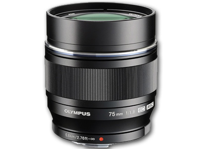 75mm f1.8 M.Zuiko Digital Lens Black