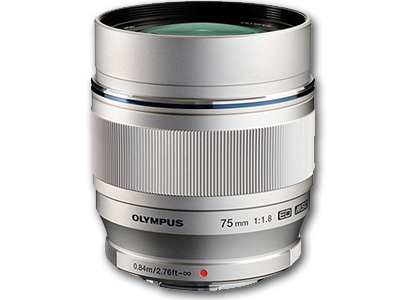 75mm f1.8 M.Zuiko Digital Lens Silver