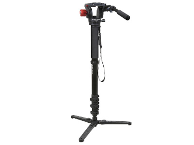 Optex Black Video Monopod with Video Head and Base