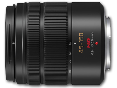 45-150mm f4.0-5.6 ASPH Lumix G Vario Black Lens
