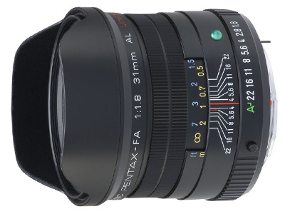 31mm f1.8 smc P FA Limited Lens Black