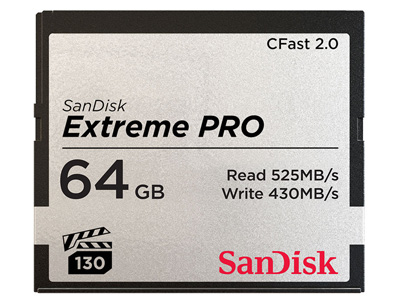 64GB Extreme PRO CFast 2.0 Memory Card