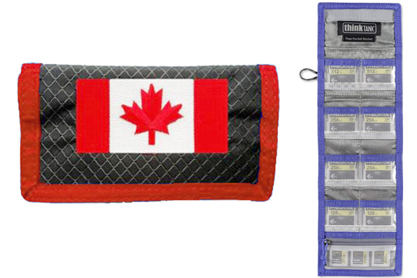 Media Storage Pocket  - Canadian Flag